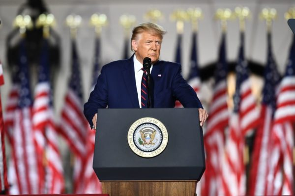 Donald Trump accepts his party's nomination, 2020