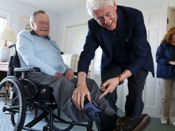 bush clinton socks