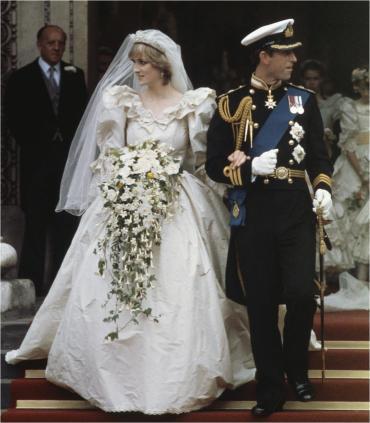 Diana and Charles, wedding