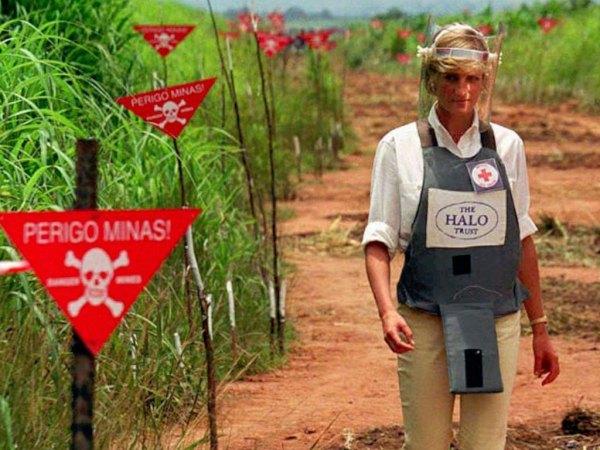 Diana, landmines