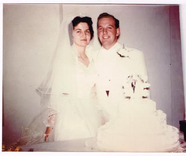 lorraine & marshall wedding 19 may 1956