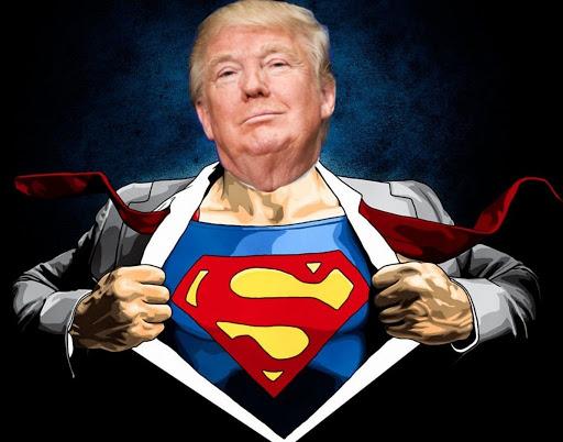 trump covid superman