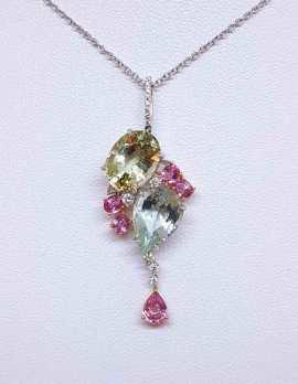 precious gem drop necklace