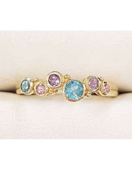 9ct Gold Mixed Gemstones Ring