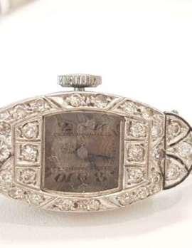 Platinum and Diamond Art Deco Ladies Watch