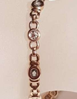 9ct Gold Topaz and Diamond Bracelet