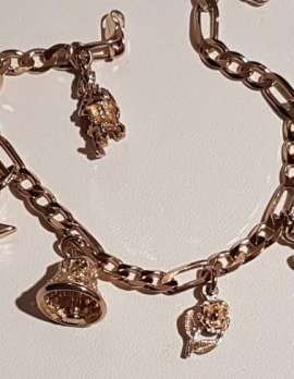 9ct Gold Charm Bracelet - Charms