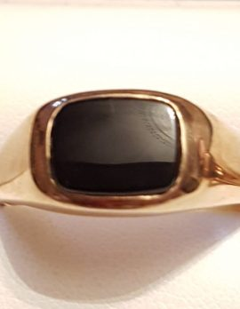 9ct Gold Onyx Gents Ring