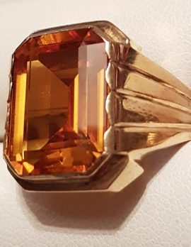 9ct Gold Gents Ring Yellow