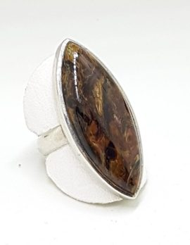 Sterling Silver Large Pietersite Ring