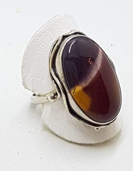 Sterling Silver Large Mookaite Ring