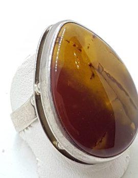 Sterling Silver Large Mookaite Teardrop Shape Ring