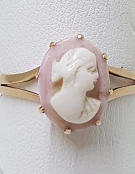 9ct Rose Gold Oval Cameo Ring