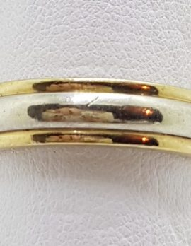 9ct Yellow and White Gold Wedding Band Ring