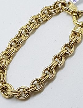 9ct Yellow Gold Silver Filled Heavy Bracelet