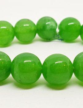 Burmese Jade Bead Elastic Bracelet