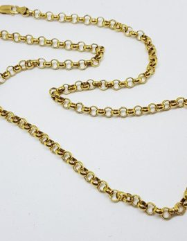 9ct Yellow Gold Belcher Link Chain / Necklace