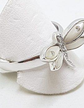 Sterling Silver Mother of Pearl Dragonfly Ring