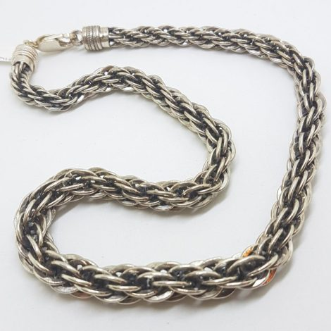 Sterling Silver Very Heavy and Thick Twist Rope Chain