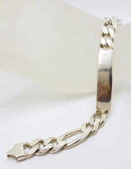 Sterling Silver ID/Identity Figaro Link Bracelet