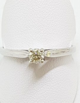 9ct White Gold Claw Set Diamond Solitaire Engagement Ring