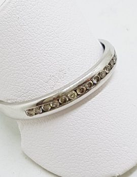 9ct White Gold Diamond Channel Set Band Ring