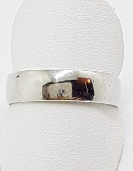 9ct White Gold Wide Wedding Band