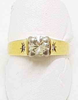18ct Yellow Gold High Set Diamond Engagement Ring