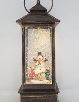 Christmas Glitter Lantern – Snowman with Children – Christmas Ornament Design #14