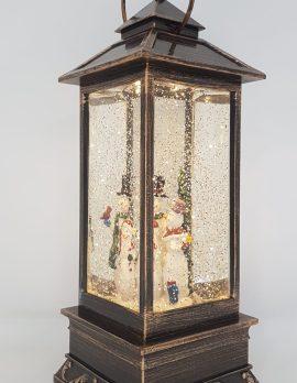 Christmas Glitter Lantern – Snowman Family – Christmas Ornament Design #15