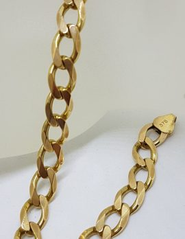 9ct Yellow Gold Long Curb Link Bracelet