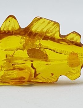 Hand Carved Natural Baltic Amber Small Fish Figurine / Statue