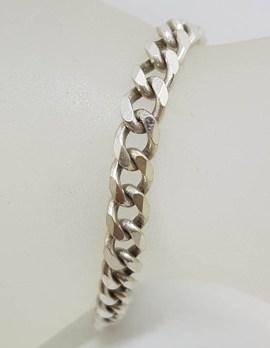 Sterling Silver Vintage Curb Link Bracelet