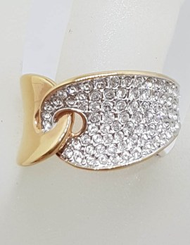 "Swarovski Crystal "" Guardian "" Plated Ring"