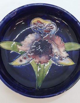 Moorcroft Round Orchid Design Dish