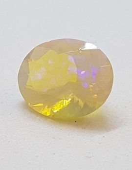 Faceted Natural Fire Opal - Oval - Loose / Unset Stone