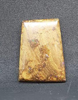 "Polished Natural Koroit Boulder Opal - Large "" Rectangular "" Shape - Loose / Unset Stone"