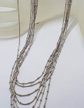 Sterling Silver Multi-Strand Necklace / Chain - Vintage