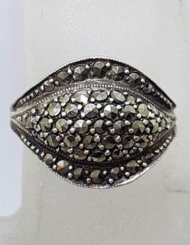 Sterling Silver Curved Ring - Vintage