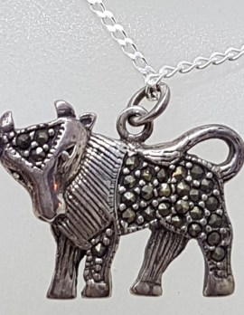 Sterling Silver Taurus / Bull / Cow Pendant on Silver Chain
