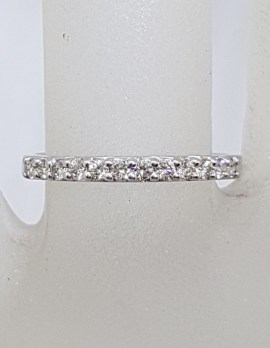 9ct White Gold Diamond Eternity Ring / Wedding Ring / Stackable Ring