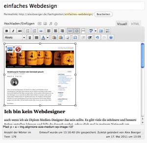 So sieht der WordPress-editor aus