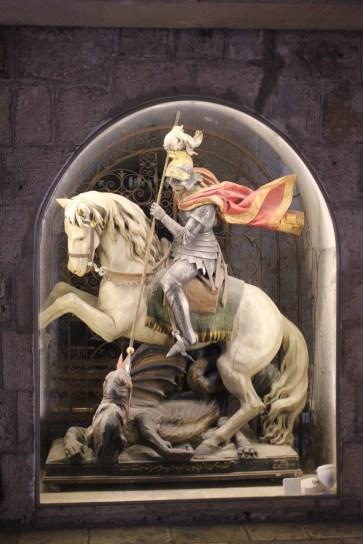 Skulptur in der Geburtskirche Jesu in Bethlehem
