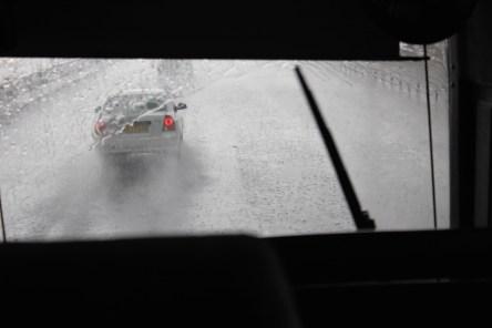 Regen in Jerusalem
