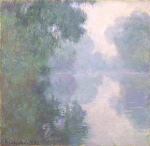 Claude Monet Morning Mists Seine Giverny, from the Le Jardin Gris Cocktail Recipe • Alex Bostan
