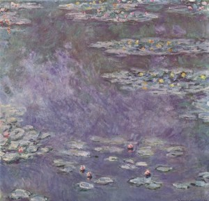 Claude Monet Water Lilies Series, from the Le Jardin Gris Cocktail Recipe • Alex Bostan