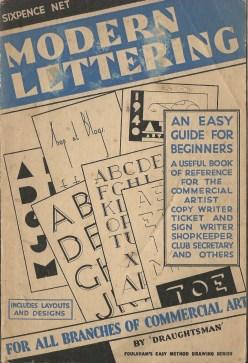 modern lettering cover
