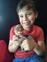 Celebratory ice cream at San Churros, Woden.