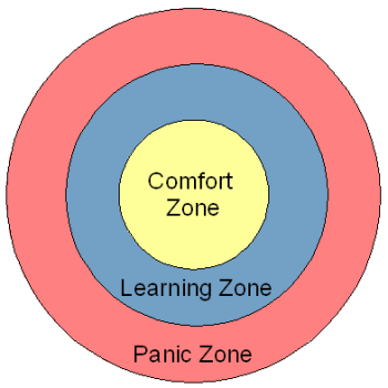 Diagram of Comfort, Learning, and Panic Zones