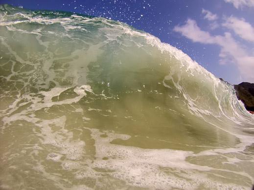 La cresta de la ola